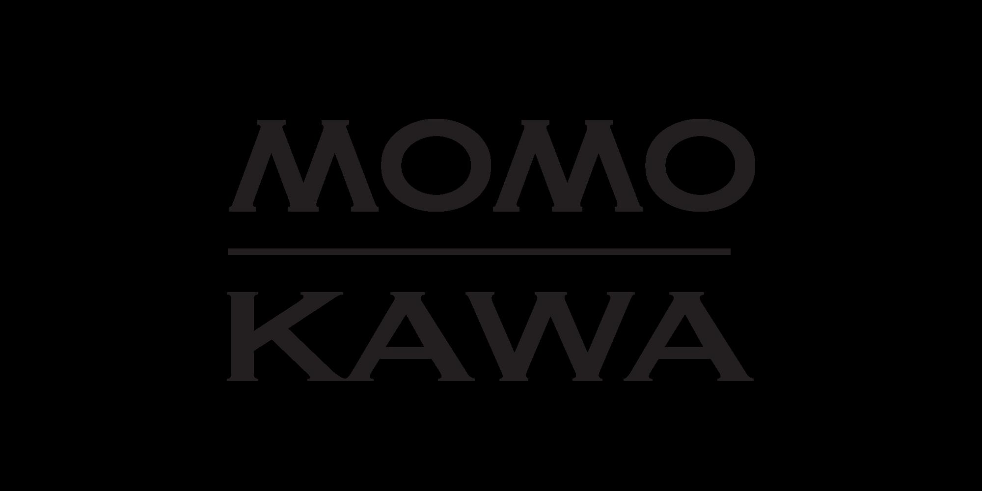 Black Momokawa logo