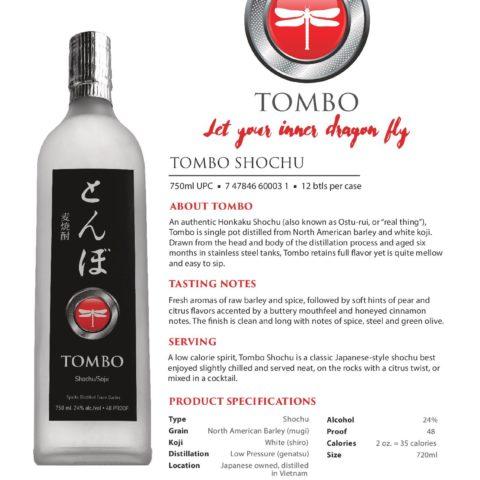 Tombo 720ml bottle Tech Sheet