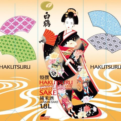 Hakutsuru Excellent Junmai 1.8L Carton Label