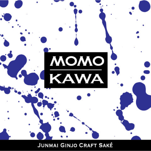 Momokawa Diamond Label with blue splatter pattern