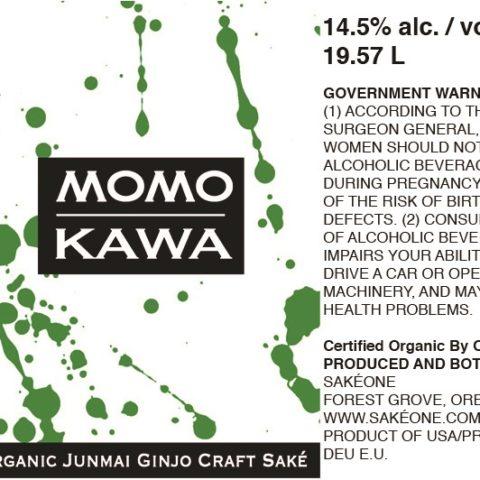 Momokawa Organic Keg Label