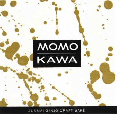 Momokawa Pearl Label with gold splatter pattern