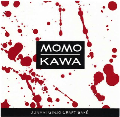 Momokawa Ruby Label with red splatter pattern