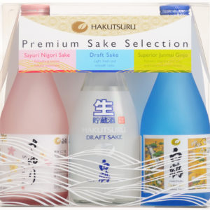 Hakutsuru Three Pack of bottles Sayuri Nigori, Draft, and Superior Junmai Ginjo