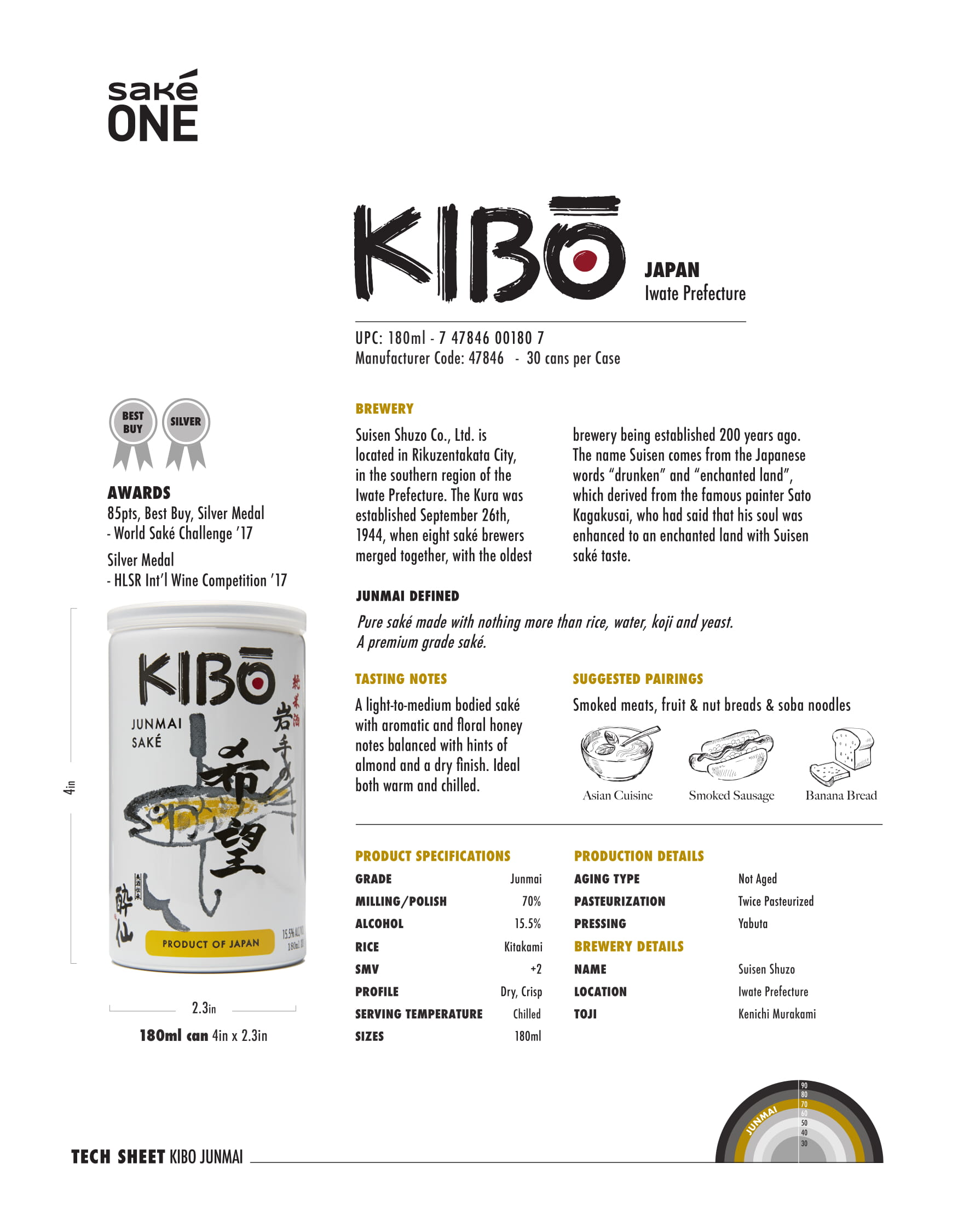 Kibo 180ml Can Tech Sheet