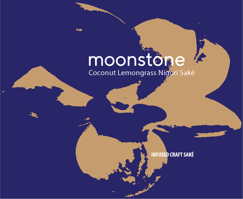Moonstone Coconut Lemongrass 750ml bottle Label