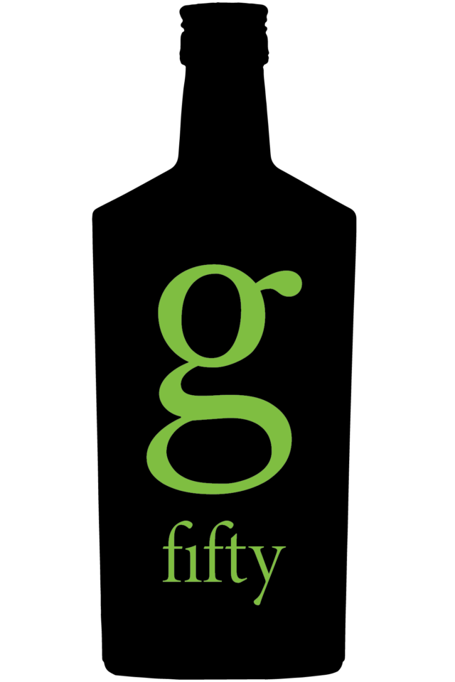 G Fifty Saké Black and Green Logo