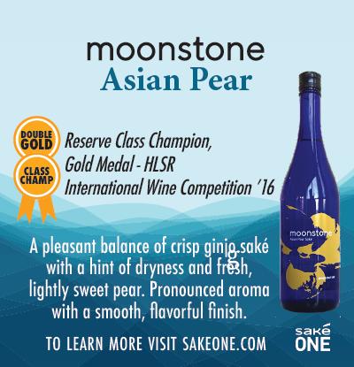 Moonstone Asian Pear Shelf Talker with product description