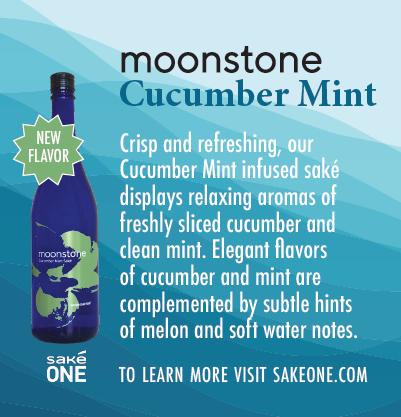 Moonstone Cucumber Mint Shelf Talker with product description