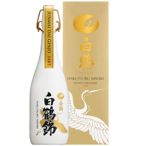 Hakutsuru Nishiki Dai Ginjo bottle and box photo
