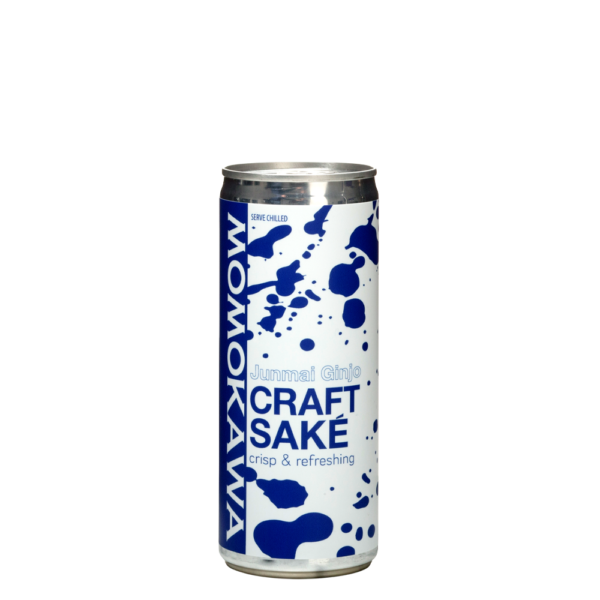 Momokawa Junmai Ginjo Craft Saké crisp & refreshing can