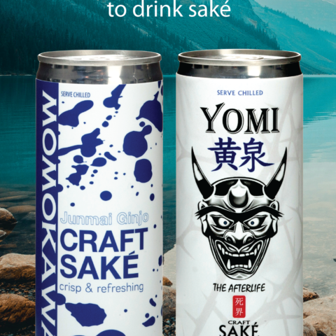 Momokawa Junmai Ginjo and Yomi Junmai Ginjo 250ml can