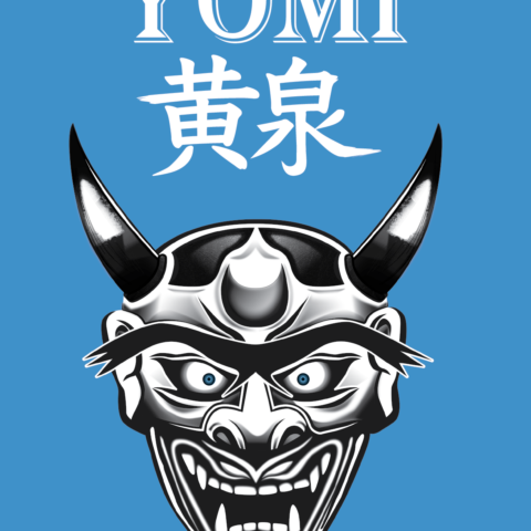 Yomi logo on blue background