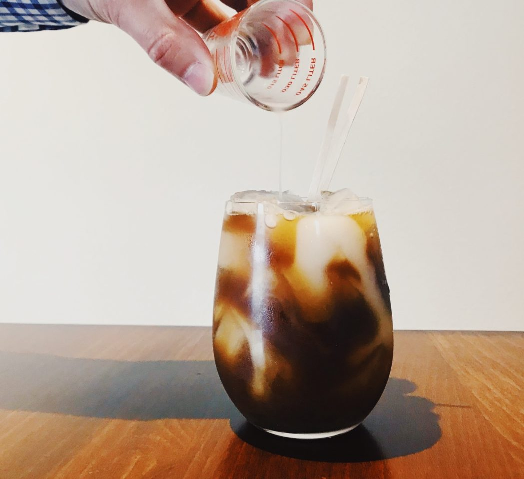 Hazelnut Nigori Iced Coffee photo