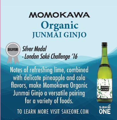 Momokawa Organic Junmai sheet with flavor notes