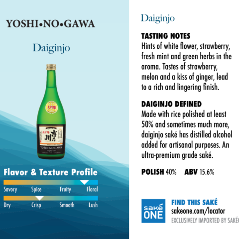 Yoshinogawa Daiginjo is slightly floral and crisp