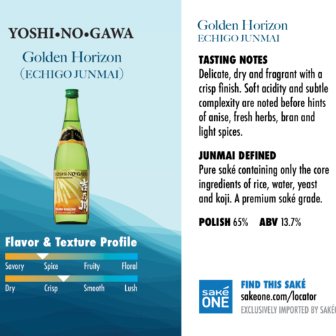 Yoshinogawa Golden Horizon is slightly spicy and crisp