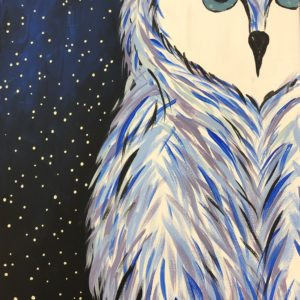Panting of an owl