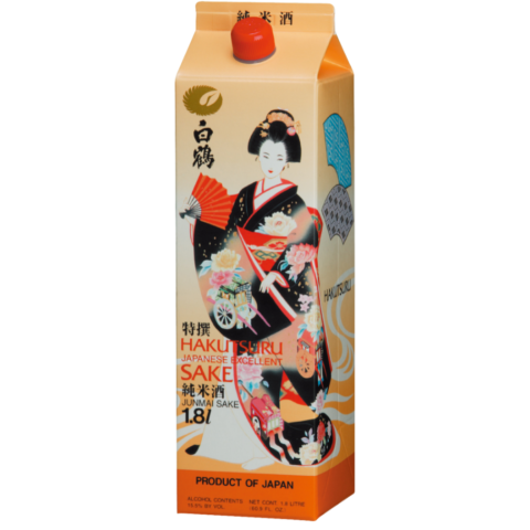 1.8L Carton of Hakusturu Excellent Saké