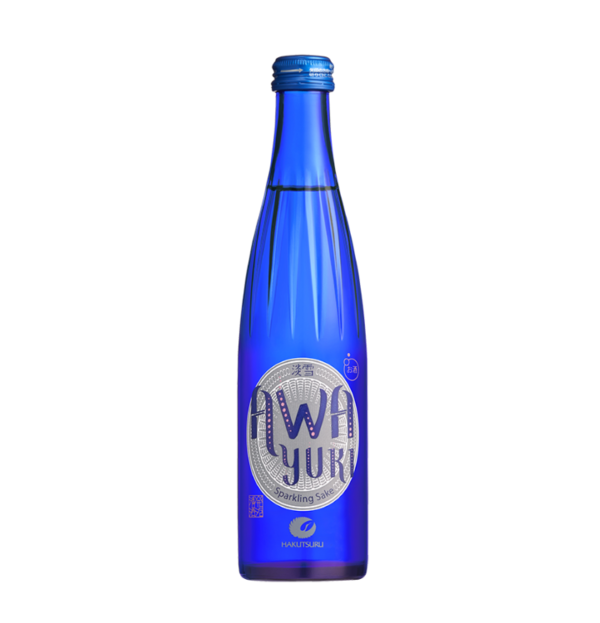 300ml Hakutsuru's blue Awa Yuki bottle