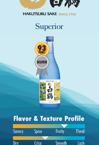 Hakutsuru's silver ribbon superior saké that's fruity and crisp